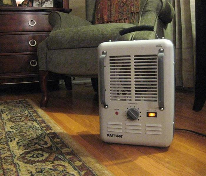 Image of space heater in room